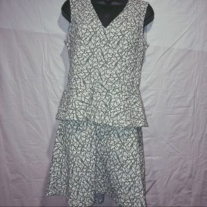 Grey two piece top and skirt size med